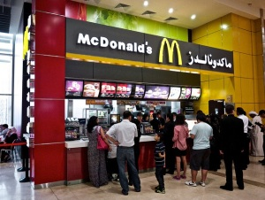 Snapshot of McDonalds in Dubai