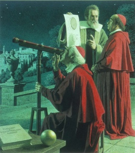 Galileo proving the Sun is the center of our universe.